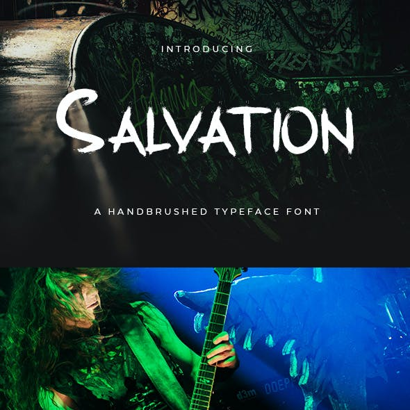 Salvation - Handbrushed Typeface Font