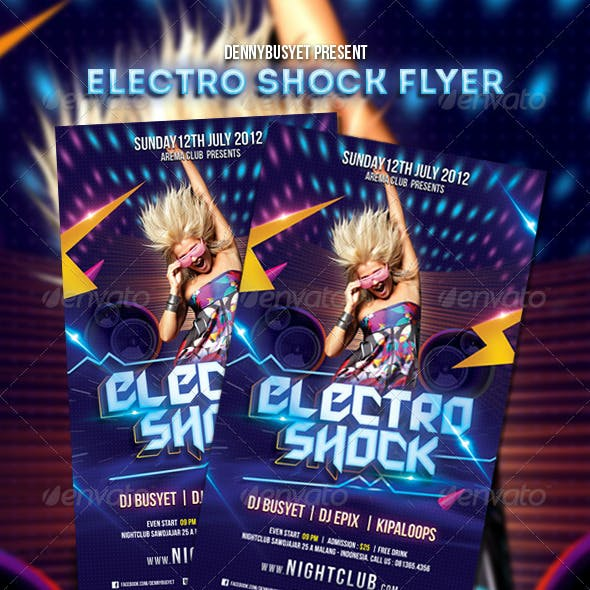 Electro Shock Flyer Template