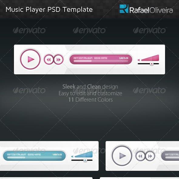 Music Player PSD Template