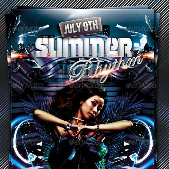 Summer Rhythm Flyer Template
