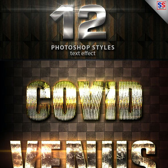 12 Light Photoshop text Effect vol 19