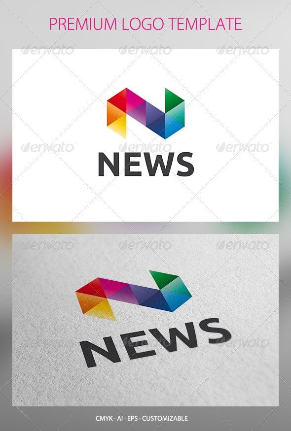 News Logo Template - Letters Logo Templates