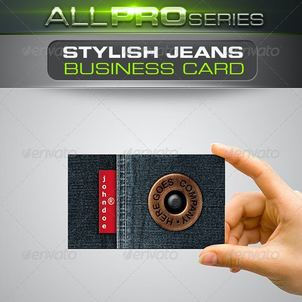 Stylish Jeans Business Card