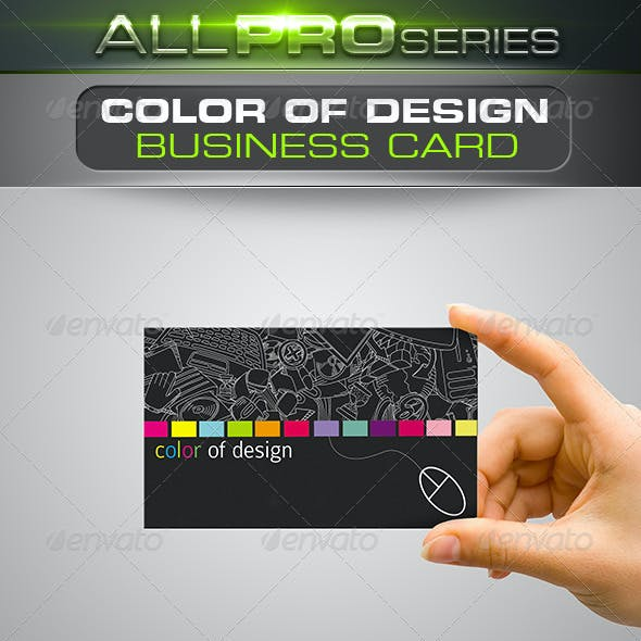 Color of Design Business Card