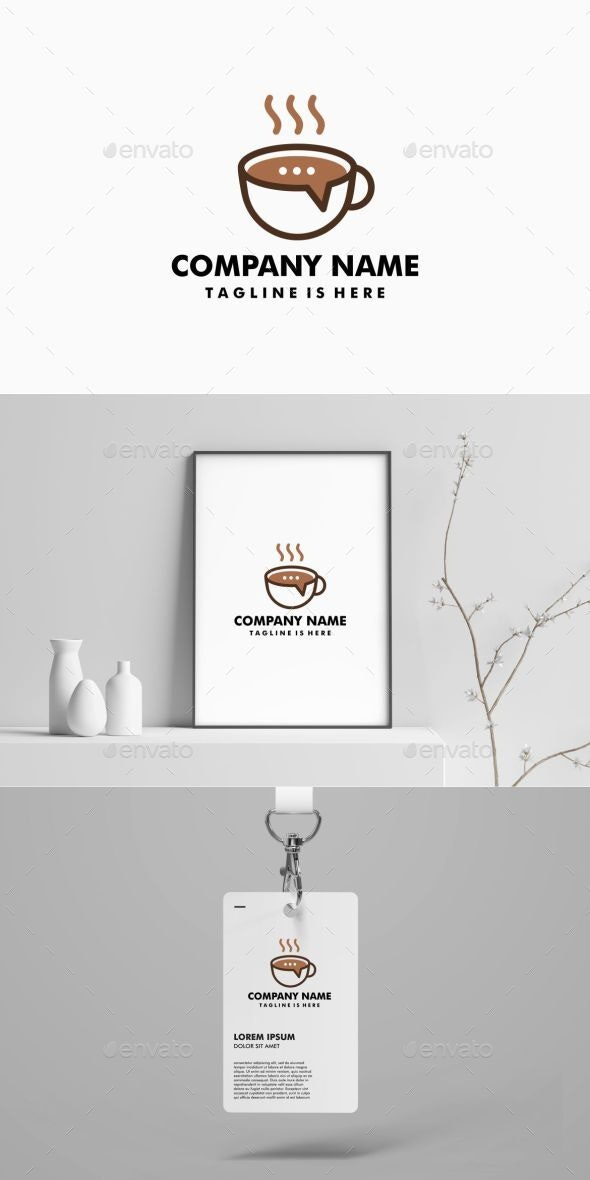 Coffee Talk Logo Template - Food Logo Templates