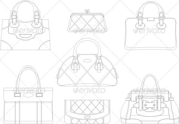 Contours of women bags - Commercial / Shopping Conceptual