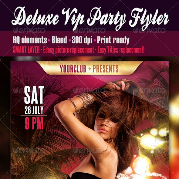Deluxe Vip Party Flyer