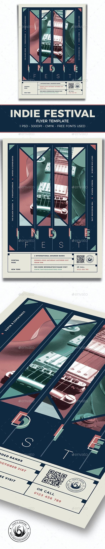 Indie Fest Flyer Template V7 - Concerts Events