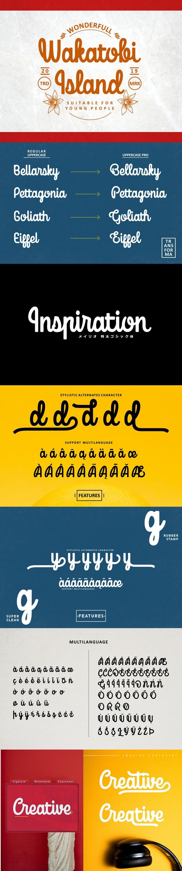 Mondella Font - Calligraphy Script