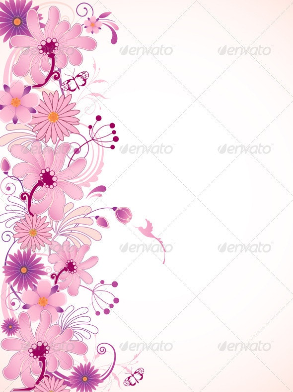 Pink Floral Background - Flowers & Plants Nature