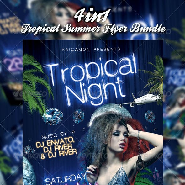 Tropical Summer Party Flyer Bundle