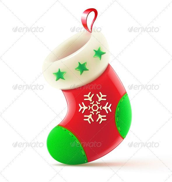 Christmas Stocking - Christmas Seasons/Holidays