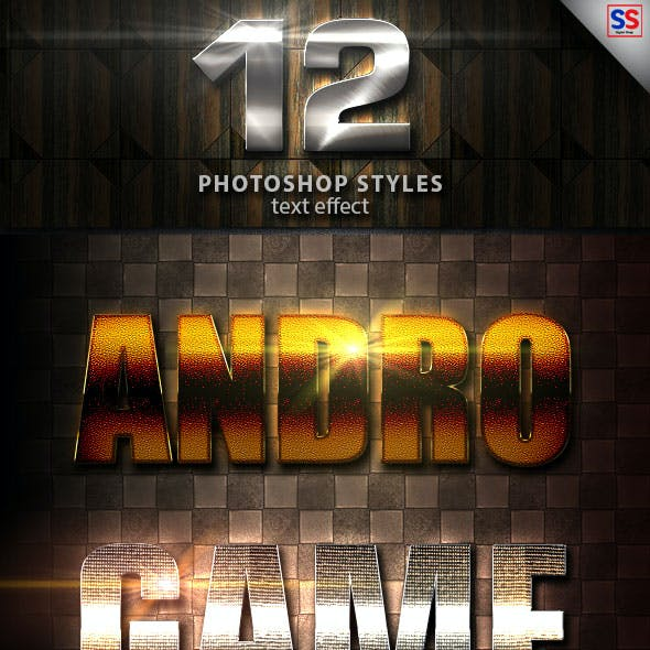 12 Light Photoshop text Effect vol 21
