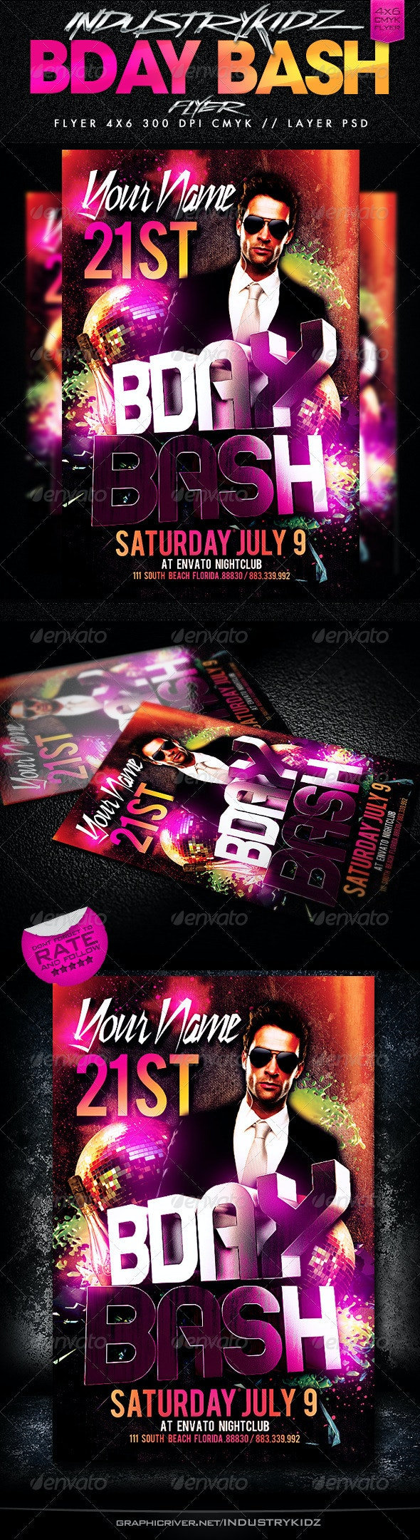 Birthday Bash Party Flyer  - Clubs & Parties Events