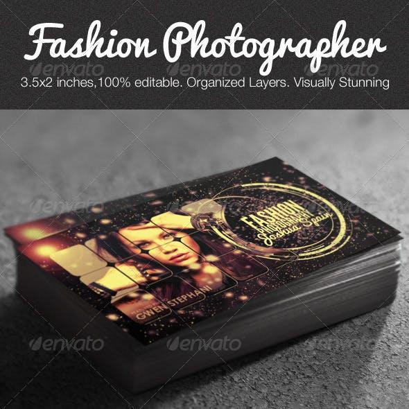 Creative Fashion Photographer Business Card PSD