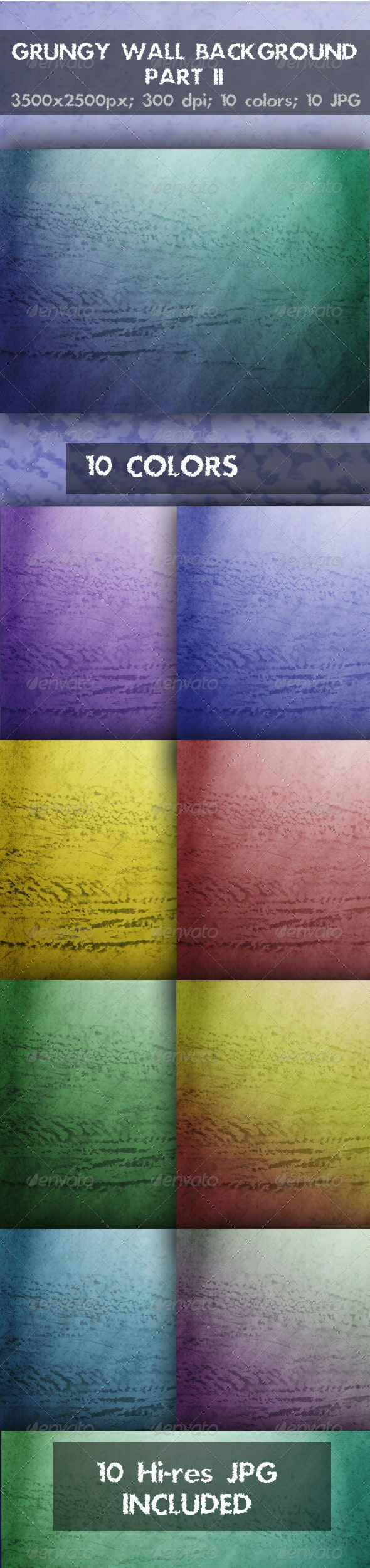 Grungy Wall Background Part 2 - Backgrounds Graphics