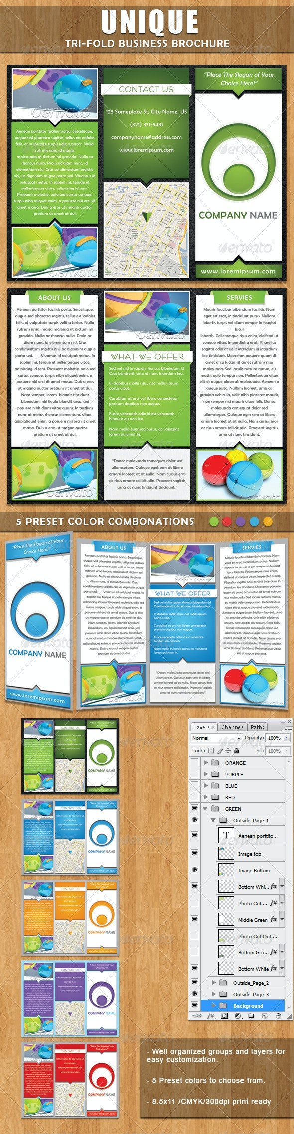 Unique Tri-fold Brochure - Corporate Brochures