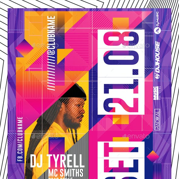Colorful DJ Flyer