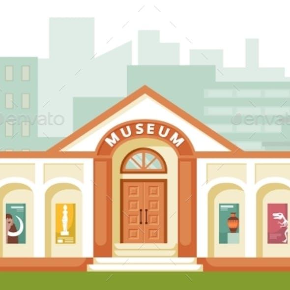 Museum Building Illustration Historical