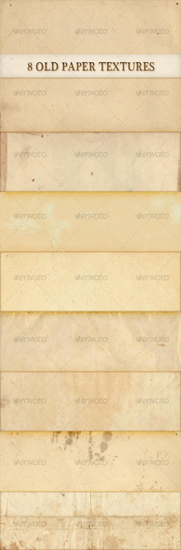 8 old paper textures - Paper Textures