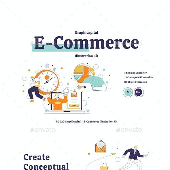 E-Commerce Illustration Kit