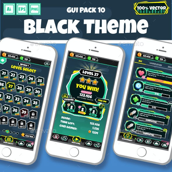 Black Theme GUI Pack 10