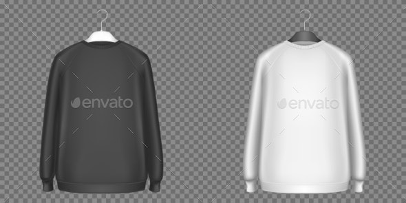 Black and White Sweatshirts, Longsleeves Shirts - Man-made Objects Objects