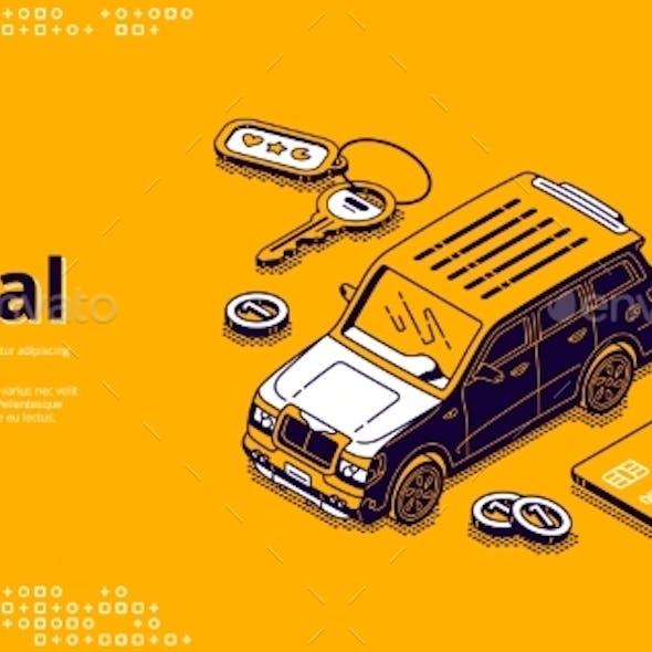 Vector Banner of Car Rental