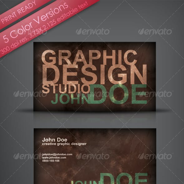 Grungy Designer's Business Card