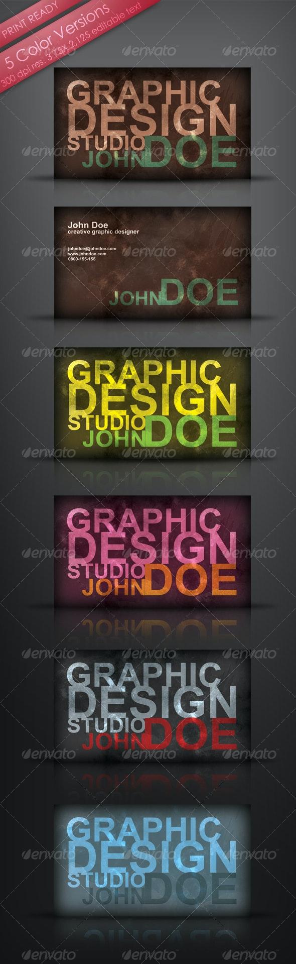 Grungy Designer's Business Card - Grunge Business Cards