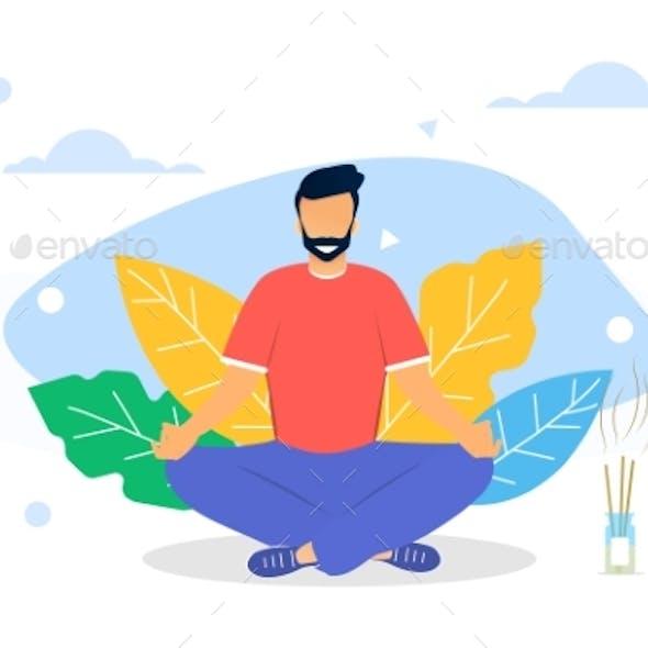 Vector Illustration Concept of Meditation