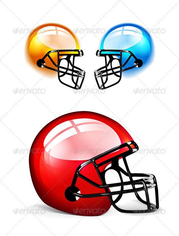 American Football Helmet - Sports/Activity Conceptual