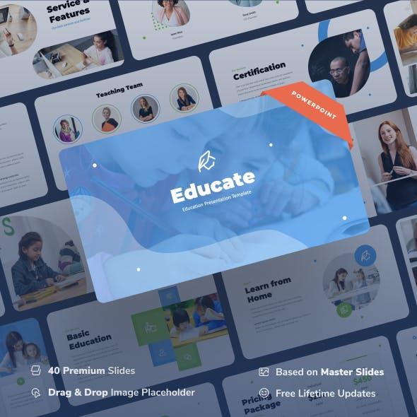 Educate - Education Power Point Presentation