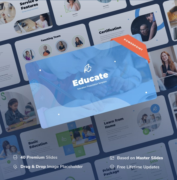 Educate - Education Power Point Presentation - Business PowerPoint Templates