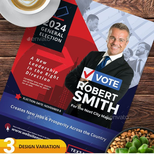 Election Campaign Flyer or Poster Templates vol.02