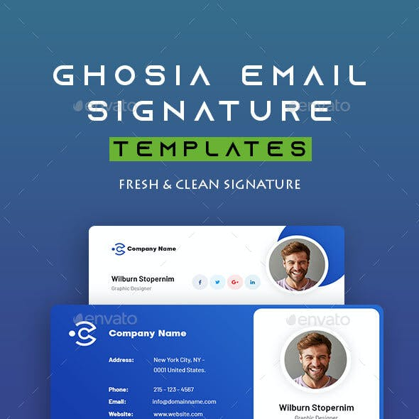 Ghosia | Email Signature Template