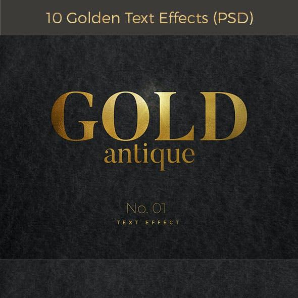 10 Golden Text Effects