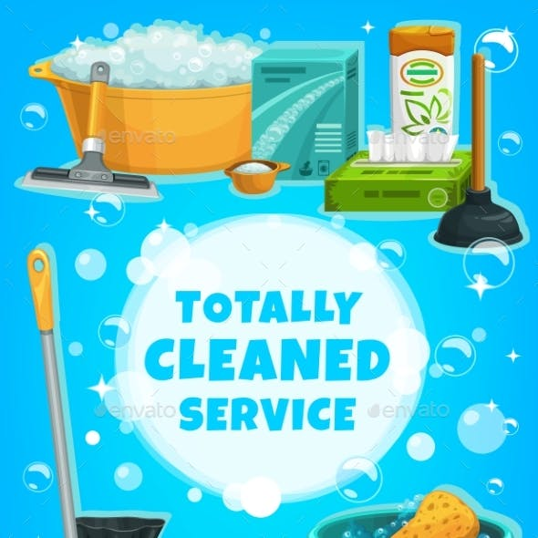 Cleaning Service, Housework Tools and Utensils