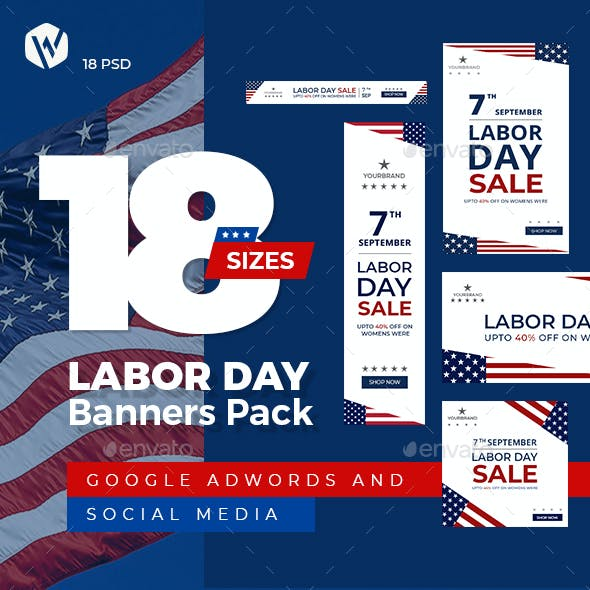 18 Labor Day Ad Banners