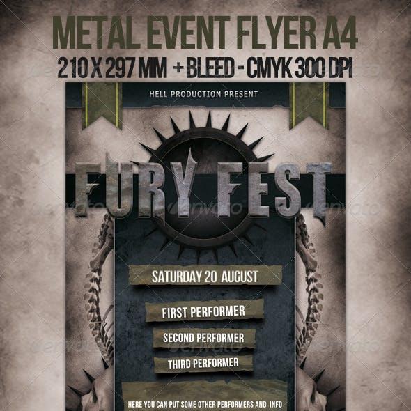 Metal Event Flyer A4