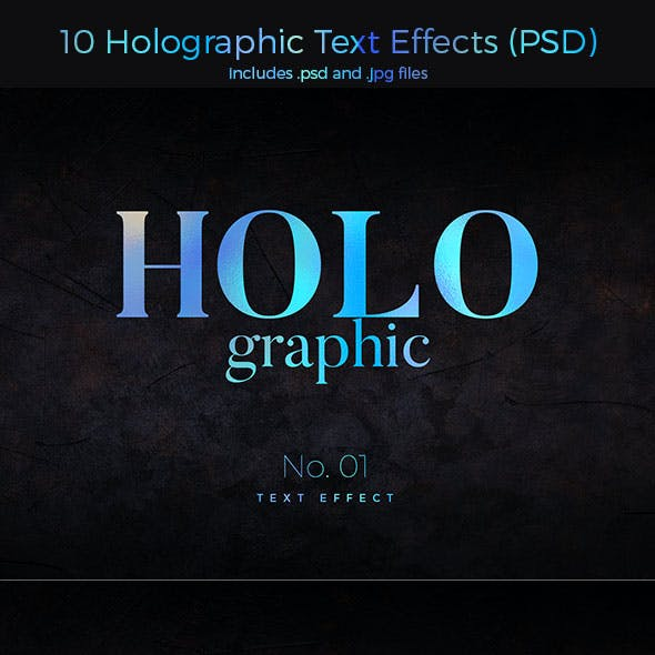 10 Holographic Text Effects