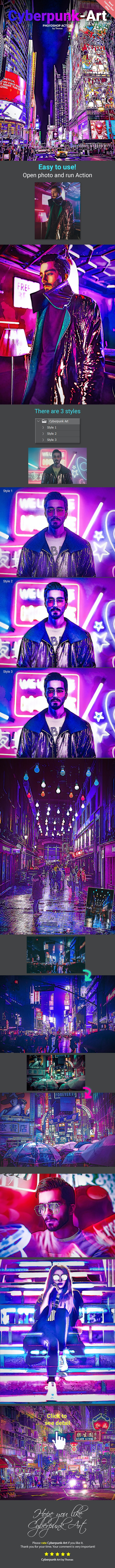 Cyberpunk Art - Photo Effects Actions