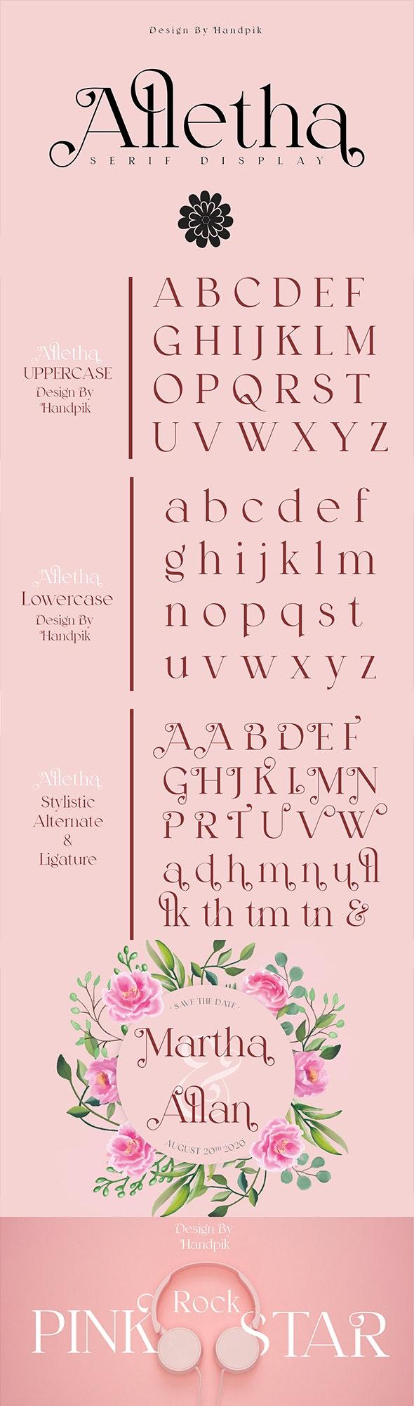 Alletha - Serif Fonts