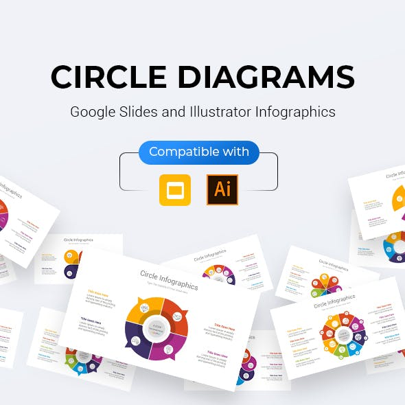 Circle Infographics Google Slides and Illustrator Diagrams