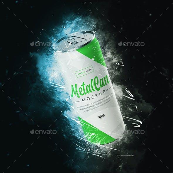 Energy Drink Metal Can Mockup