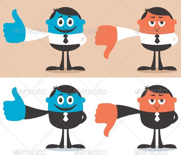 Like & Dislike - Characters Vectors