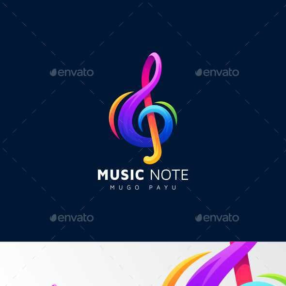 Music Note Logo Colorful