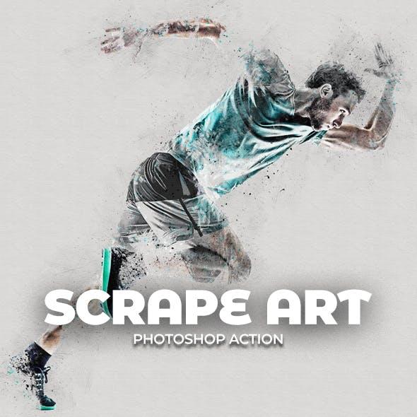 Scrape Art Photoshop Action