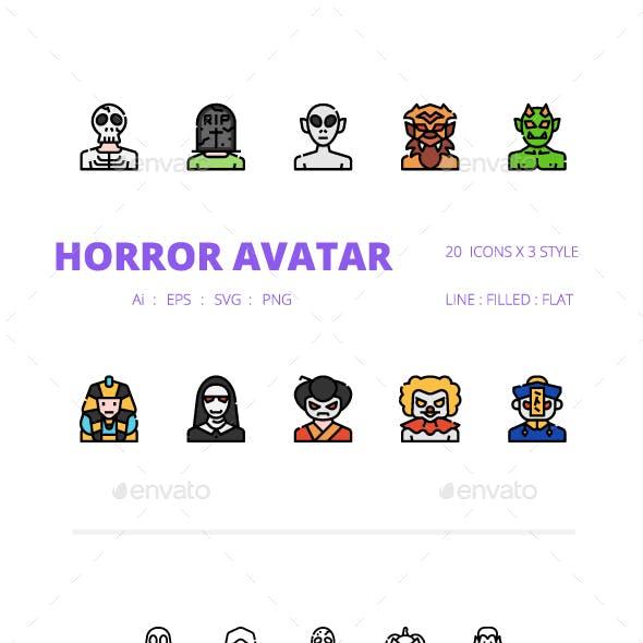 Horror Avatar Icons Packs