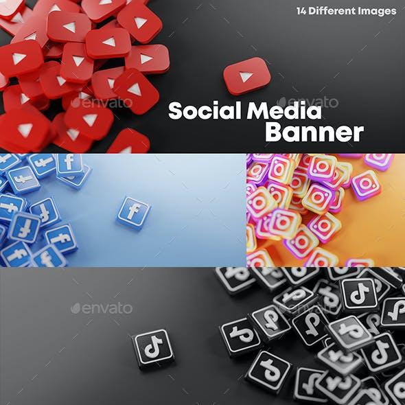 Social Media Background Banner Pack